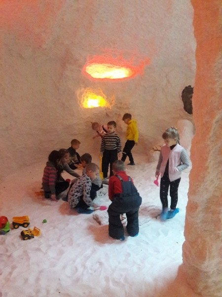 Как ребята ходили в «соляную пещеру» за здоровьем