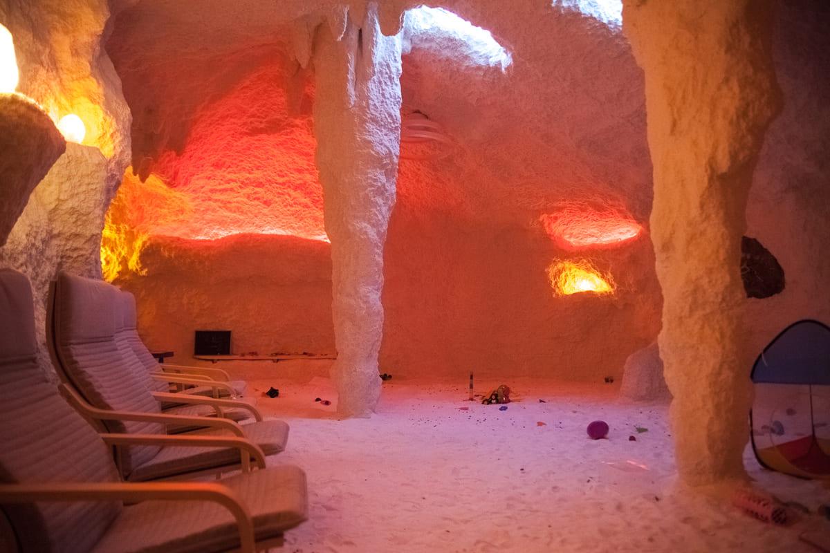 Соляная пещера открыта для посещения